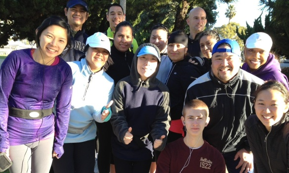 Team AMP members at the Unity Run on Sat., Jan 12th, 2013 at Marina Del Rey