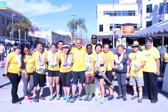 Team AMP and Volunteers after the 2014 ASICS LA Marathon (not all pictured)